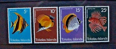TOKELAU 1975 Fish Fishes. Set of 4. Mint Never Hinged. SG45/48.