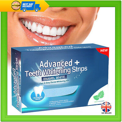 56 Teeth Whitening Strips Professional White Strips Home Tooth Bleaching Kit