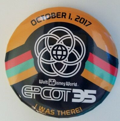Epcot 35th Anniversary I Was There October 1 2017  Disney Button Pin