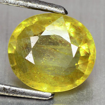 2.91 Cts Rare Top Quality Yellow Colour Natural Sapphire Gemstones-Vs