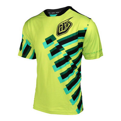 Troy Lee Designs Skyline Force Mens Bicycle Jersey Flo Yellow