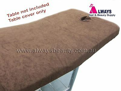 Towelling Cover FOR Massage Table Beauty Bed Salon Spa Chocolate Aussie Seller