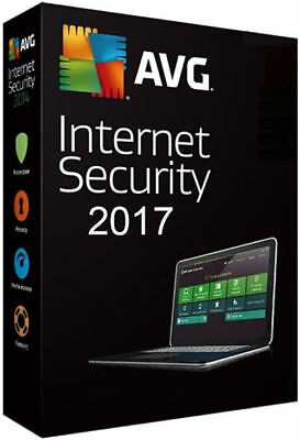 AVG Internet Security 2017 - 1 Computer / 1 Year Protection | License Key Only
