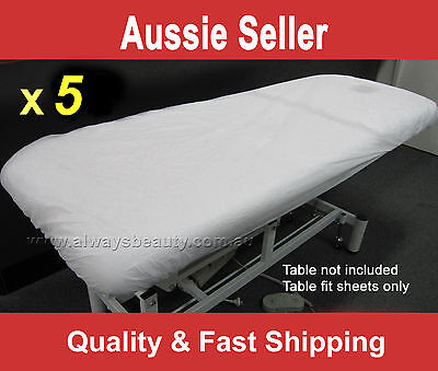 5Pc Disposable Fitted Sheet Massage Table Beauty Bed Cover Water Oil Proof