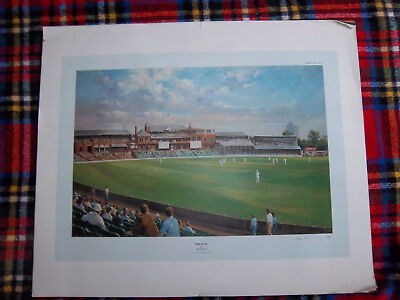 Alan Fearnley SIGNED Limited Edition Framed Print  Oval Cricket Ground 784/850