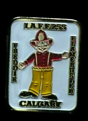 Fire Department Pin - Freddie the Flame buster Pin - Calgary I.A.F.F 255