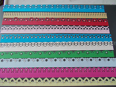 10 MARTHA STEWART BORDERS (14 patterns now available) BEAUTIFUL ON CARDS ETC!!