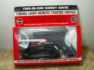 Vintage Untested RAC #1503 Timing Light W/ Built-in Remote Starter Switch & Manu