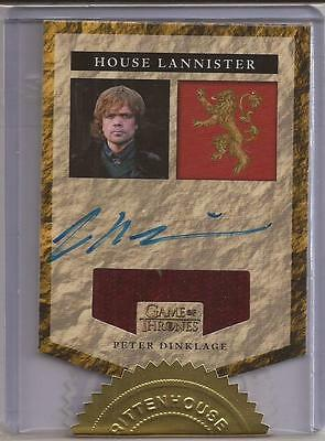 Peter Dinklage as Tyrion Lannister Autograph Relic Card-Game of Thrones Season 5