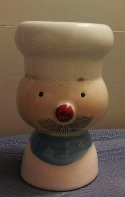 VINTAGE French Chef with Toque Double Egg Cup!!!