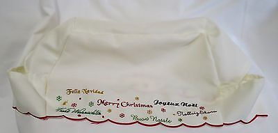 Toaster Cover 2 Slice Embroidered Christmas Holiday Greetings Front & Back