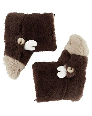 New Carter's Brown Moose Boy Slippers Shoes NWT S 5 6 M 7 8 L 9 10 XL 11 12