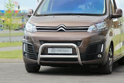 Citroën Jumpy 2016- Pare Buffle , Protection Avant En Inox Diam 60,  Homologue