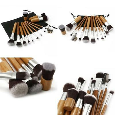 Set 12 Piece Black And White Makeup Travel Pop Art Brush Brushes flawless New