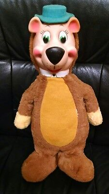 "Vintage Knickerbocker Rubber Face Yogi Bear Plush, 17 1/2"", Hanna Barbera, Nice!"