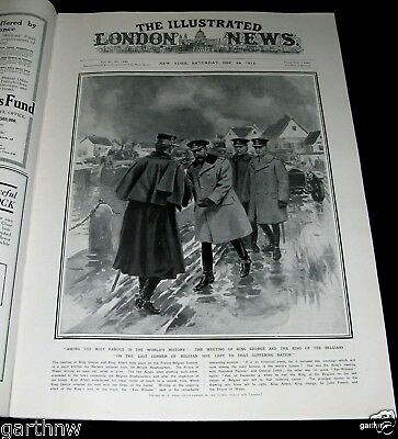 Prince Of Wales & King George At The Front 1914 Cover World War Pictorial