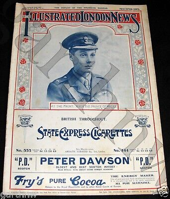 PRINCE OF WALES AT THE FRONT 1914 WORLD WAR I PICTORIAL + 1st 10 VICTORIA CROSS