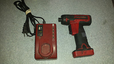 "Snap On 14.4 V 1/4"" Hex Drive Cordless Screwdriver Kit ~ Free Shipping"