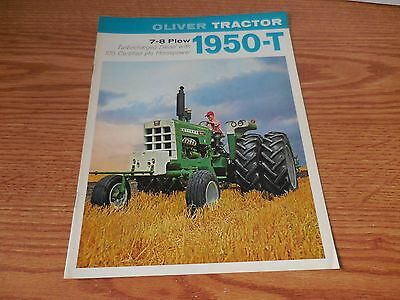 Oliver 1950T And Wheatland Tractor Brochure Literature Advertisement