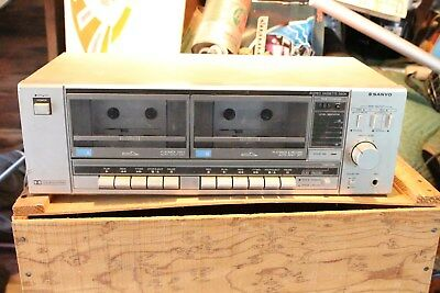 Vintage Working Retro 1980s Sanyo RD W340 Twin Tape Deck Electronic