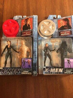 X-Men The Movie Action Figures Lot Of 2 Jean Grey And Rouge