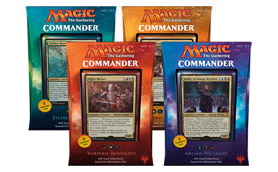 Commander 2017 Decks Set of Four 4 MTG Magic the Gathering - CollectorsAvenueCom