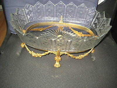 Beautiful Bronze And Cut Crystal Centerpiece