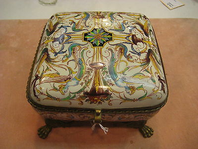 L.M &Co of Creil and Montereau Hand Painted Box