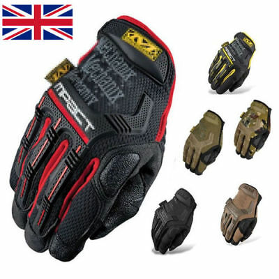 New Mechanix Tactical M-PACT Gloves Black Brown Combat Military Airsoft Free P&P