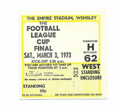 Ticket 1973 League Cup Final - TOTTENHAM HOTSPUR v. NORWICH CITY