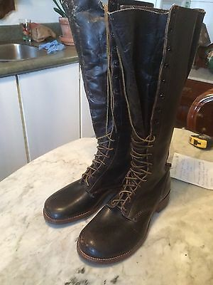 HURD  vintage riding officer military equestrian mens boots sz 9? gay interest