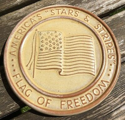 "Frankoma America "" Stars & Stripes"" - Flag Of Freedom Trivet"