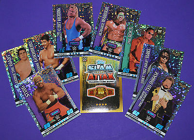 Topps SLAM ATTAX 10 (10th Edition) TCG WWE - ICON Hall of Fame (HOLO Foil) cards