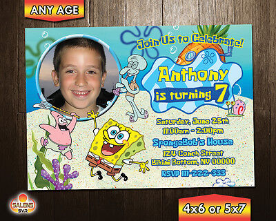 SpongeBob SquarePants Invitation / SpongeBob Invitation