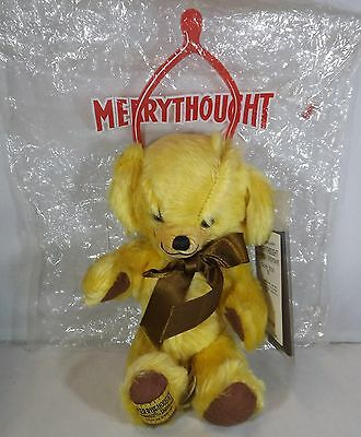 "Merrythought 8"" Squeaky Cheeky Mohair Teddy Bear Ltd. Ed. T8V In Original Bag"
