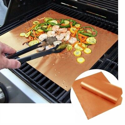 Copper BBQ Grill Bake Mat Pad For Home Outdoor Camping