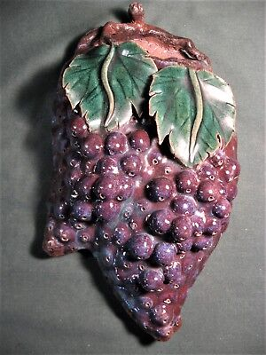 Vintage Asian Grape Cluster Wall Pocket-
