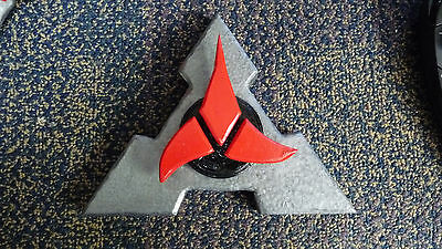 Klingon Inspired Plaque hand carved from wood 020917