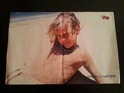 Aaron Carter shirtless 2 pages poster / centerfold very rare 1997