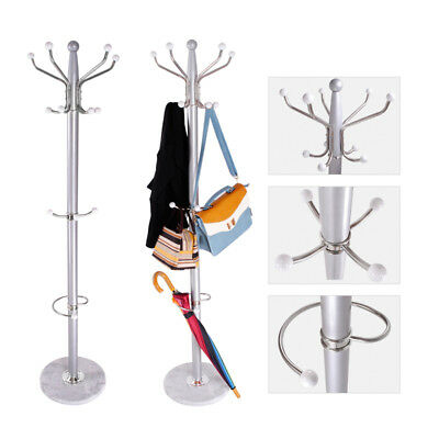 15 Hook Iron Metal Clothes Hat Coat Umbrella Stand Rack Garment Hanger Taller