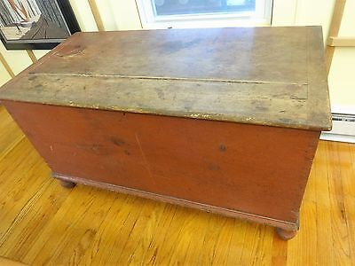 Antique Pennsylvania  Blanket Chest 18th Century