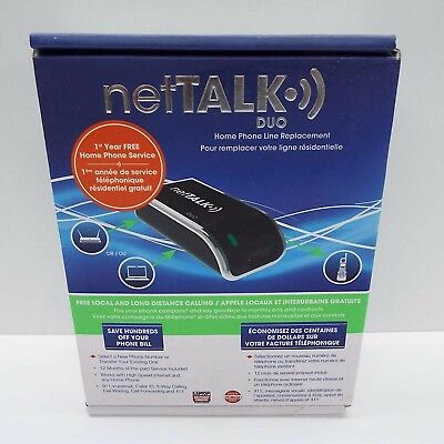 NetTalk DUO VOIP CANADIAN VERSION (BRAND NEW SEALED) D1100