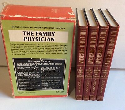 Vintage Medical Books Boxed Set The Family Physician Vol 1-3 Hardcover Greystone