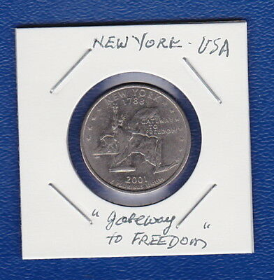 "USA COMMEMORATIVE - STATE QUARTERS Series: NEW YORK - ""Gateway to Freedom"" Coin*"
