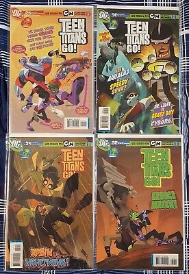 Teen Titans Go! #29, 30, 31, 32 (May, June, July, August 2006, DC) mostly VF/NM