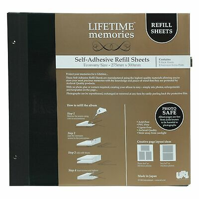 Lifetime Memories UR1 NCL Economy Photo Album Black Refills 62780 / YR-2005/B