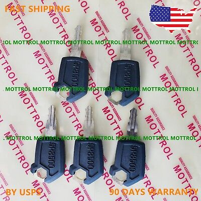 5 PC  FITS Caterpillar CAT Equipment Ignition Loader Dozer Key 5P8500 5P-8500