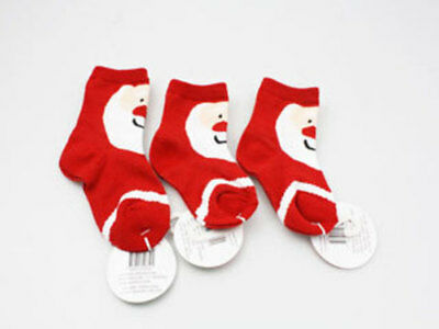 24 x kids Christmas Socks S M L Father Xmas Design
