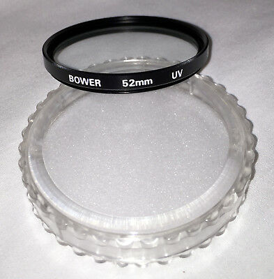 NEW in BOX BOWER 52mm Lens UV Filter Multi-Coated Made in Japan Nikon Canon Sony