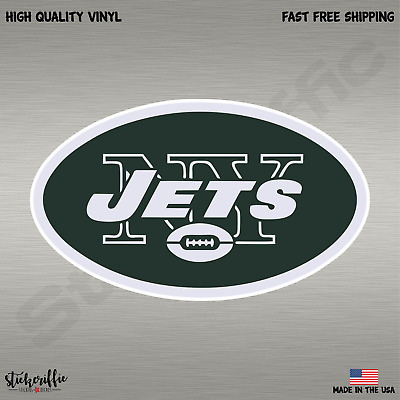 New York Jets NFL Football Color Logo Sports Decal Sticker - Free Shipping